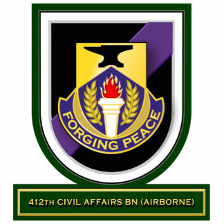 412th Civil Affairs Battalion - Airborne flash Standing Photo Sculpture