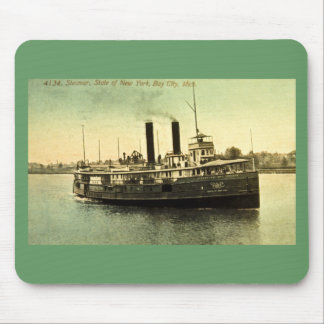 4134 Steamer, State of New York, Bay City, MI Mouse Pad