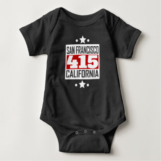 415 San Francisco CA Area Code Baby Bodysuit