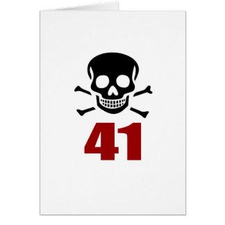 41 Birthday Designs Card