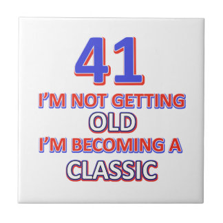41 birthday designs small square tile