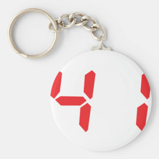 41 fourty-one red alarm clock digital number key ring