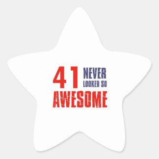 41 year  birthday designs sticker