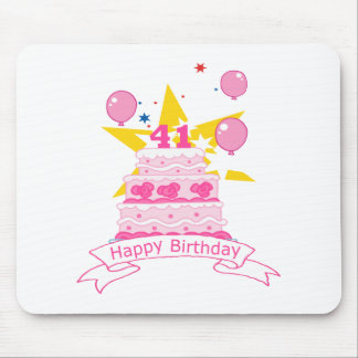 41 Year Old Birthday Cake Mouse Pad
