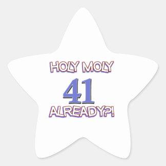 41 year old designs star sticker