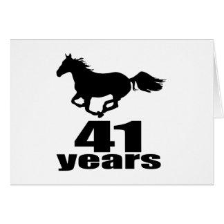 41 Years Birthday Designs Card