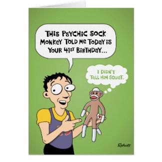 41st Birthday Cartoon Greeting Card