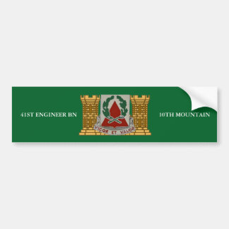 41ST ENGINEER BN 10TH MOUNTAIN BUMPER STICKER