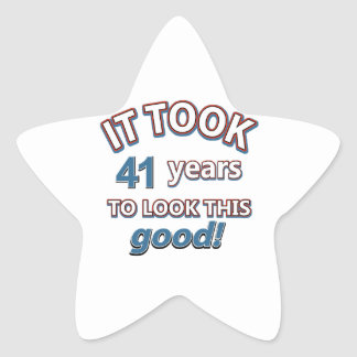 41st year birthday designs sticker
