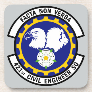 421st Civil Engineer Squadron Beverage Coasters