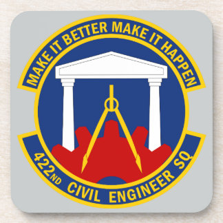 422nd Civil Engineer Squadron Drink Coasters