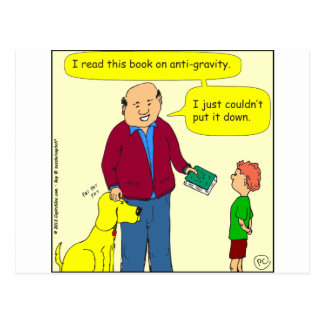 425 anti-gravity cartoon postcard