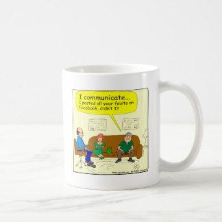 426 I communicate Cartoon Coffee Mugs