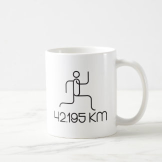 42.195 km marathon distance coffee mug