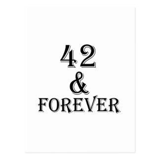 42 And Forever Birthday Designs Postcard