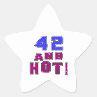 42 birthday designs star sticker