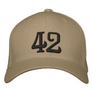 42 EMBROIDERED HAT