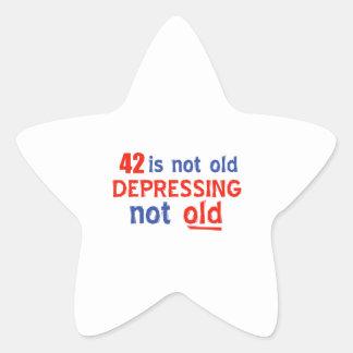 42 is depressing not old birthday designs sticker