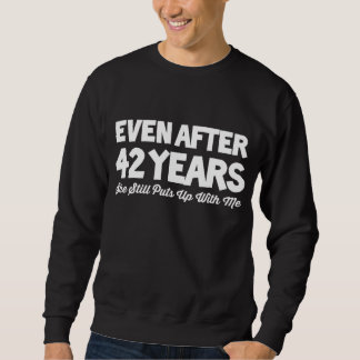 42nd Anniversary Costume For Wife. Sweatshirt