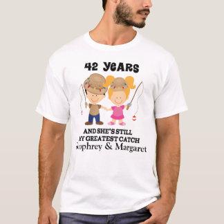 42nd Anniversary Custom Gift For Him T-Shirt