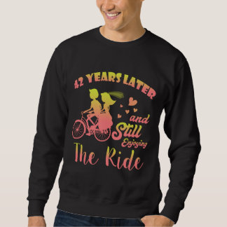 42nd Anniversary Gift For Husband Wife. Sweatshirt