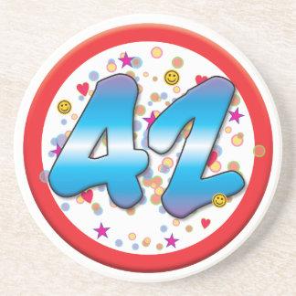 42nd Birthday Drink Coasters