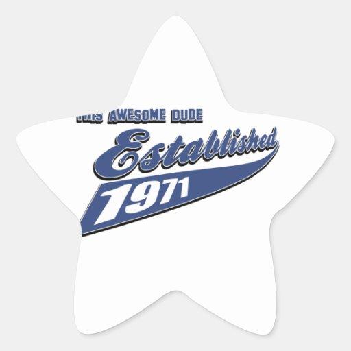 42nd year old birthday designs star sticker