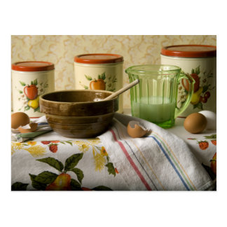 4342 Bowl & Cannisters Still Life Postcard