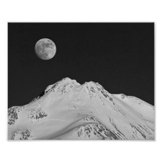 434 MOON OVER SHASTA #1 (8X10) POSTER