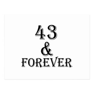 43 And Forever Birthday Designs Postcard