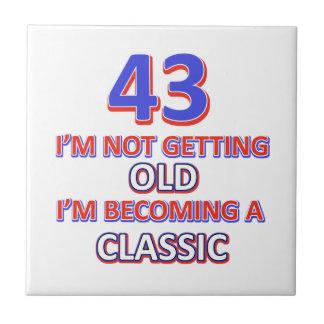 43 birthday designs small square tile