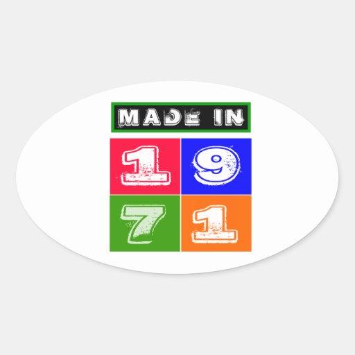 43 Birthday Designs Oval Sticker