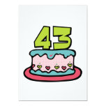 43 Year Old Birthday Cake Custom Announcements