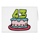 43 Year Old Birthday Cake Greeting Card