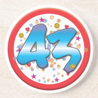 43rd Birthday Coaster