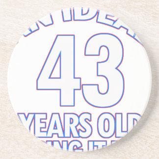 43rd birthday designs beverage coaster