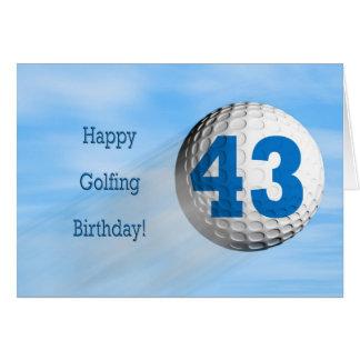 43rd birthday golfing card