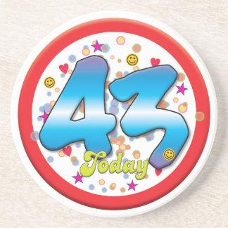 43rd Birthday Today Coaster