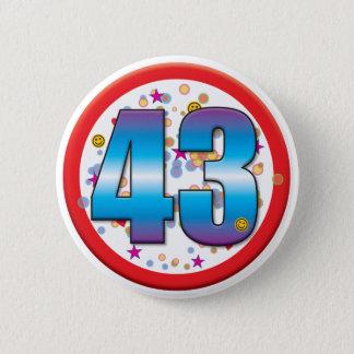 43rd Birthday v2 6 Cm Round Badge