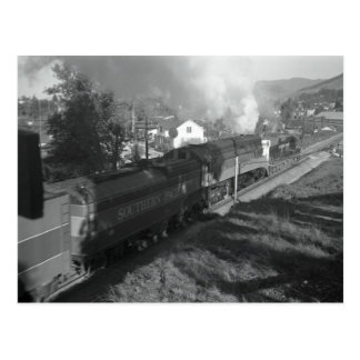 4456 Pulls the Daylight Through San Luis Obispo Postcard