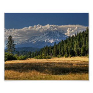 447 MOUNT SHASTA NEAR McCLOUD (8x10) Poster