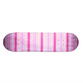 449_lilies-paper-stripes PINK WHITE CANDY CANDYCAN Skate Boards