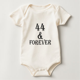 44 And Forever Birthday Designs Baby Bodysuit