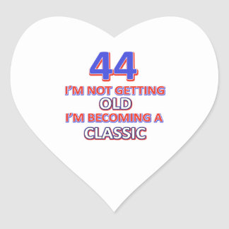 44 birthday designs heart sticker