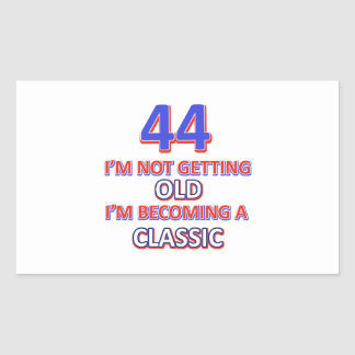 44 birthday designs rectangular sticker