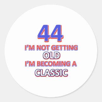 44 birthday designs round sticker