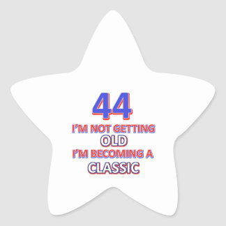 44 birthday designs star sticker