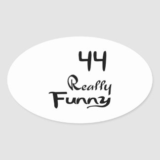 44 Really Funny Birthday Designs Oval Sticker