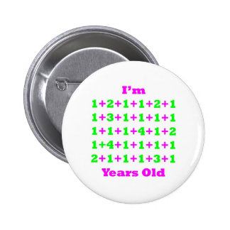 44 Years Old Magenta Gr Pinback Buttons