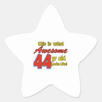 44th birthday designs star sticker